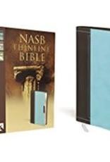 NASB Thinline Bilbe Brown Blue Red Letter 9367