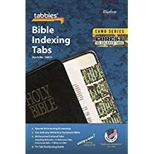 Tabbies Bible Indexing Tabs - Camo Series, Forest 4116