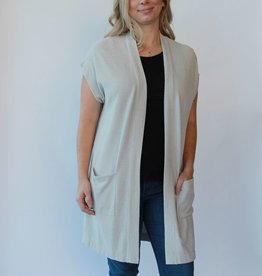 Barefoot Dreams Long Cardi Sleeveless Cozy Chic