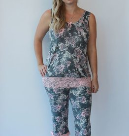 Kathy Ireland PJ Tank Bermuda Short Fall Over My Heart