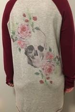 PJ Salvage Nightshirt Skulls & Roses