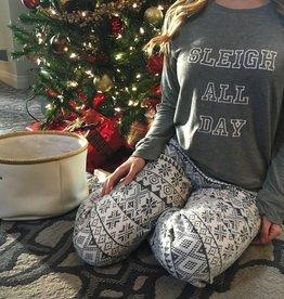 PJ Salvage Pj Tee/Ski Pant Sleigh All Day Grey/Natural