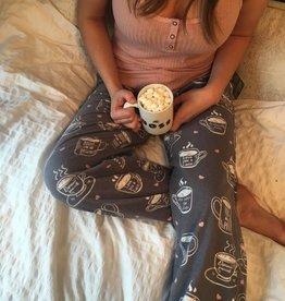 PJ Salvage PJ Cami/Pant Coffee Flannel
