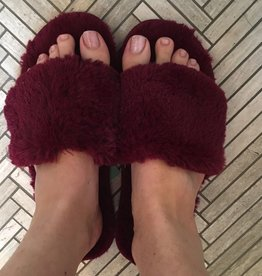 PJ Salvage Slippers Fur Slide
