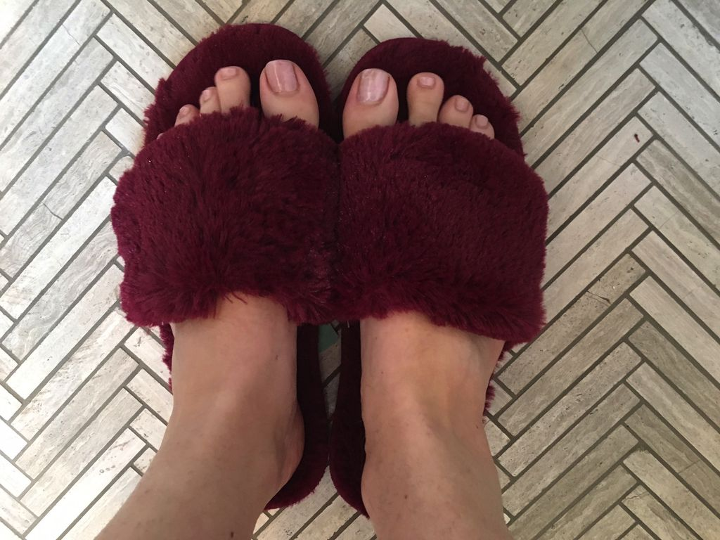PJ Salvage Slippers Fur Slide