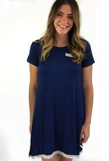 Kathy Ireland Nightshirt Dorm Navy