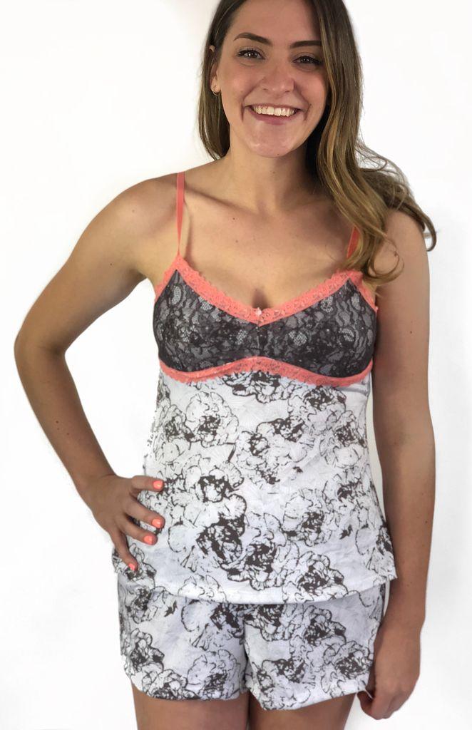 Nanette PJ Cami/Short Floral Lace