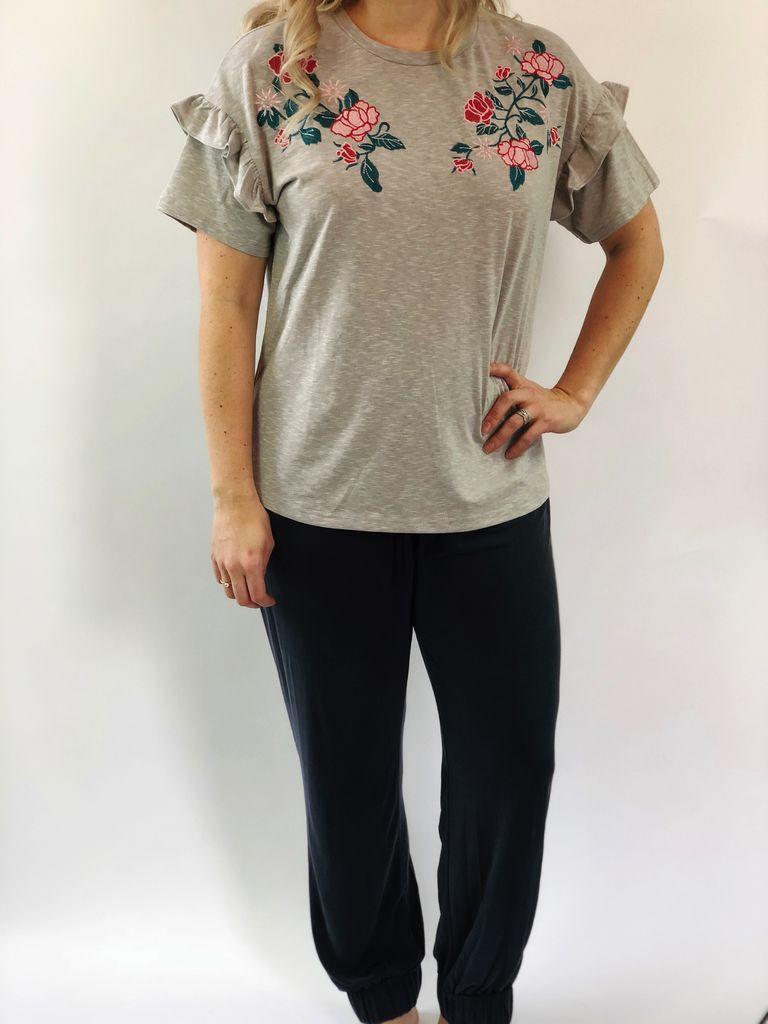 Scarlett Ellie PJ Embroidered Tee/Pant Alysha