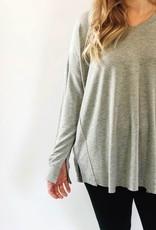 Scarlett Ellie Sweater V Neck Tunic Abbey