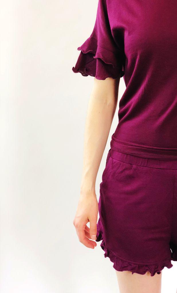 Scarlett Ellie PJ Crop Tee/Short Ruffle Kori