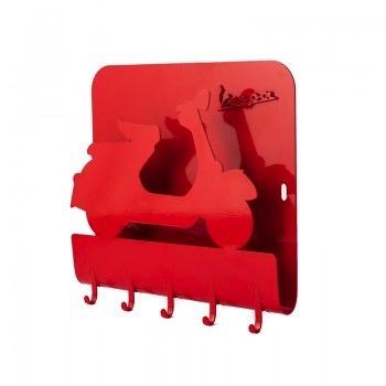 Lifestyle Key Holder Vespa Red Metal