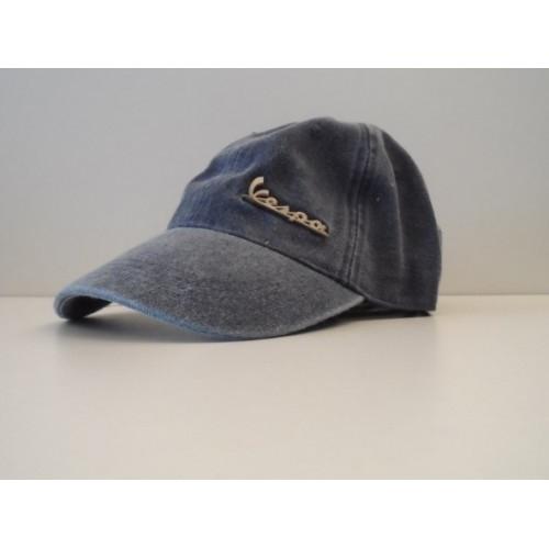 Apparel Ball Cap Blue Vespa Badge