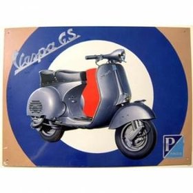 Lifestyle Vespa Metal Sign Vespa GS