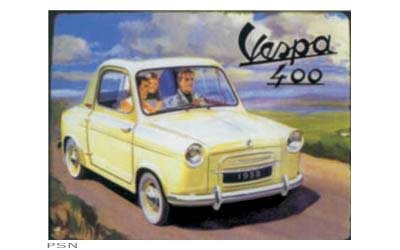 Lifestyle Vespa Tin Sign Vespa 400 Car