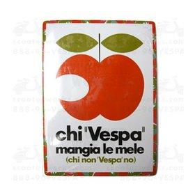 """Lifestyle Vespa Tin Sign """"Che Vespa Magia le Mele"""""""