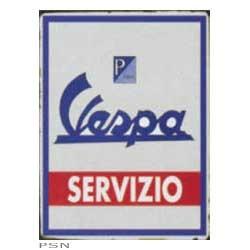 """Lifestyle Vespa Tin Sign """"Vespa Servizio"""""""