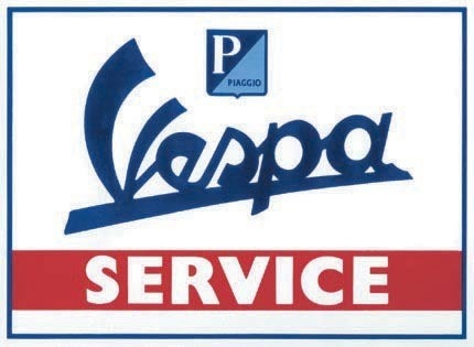 Lifestyle Vespa Tin Sign Vespa Service