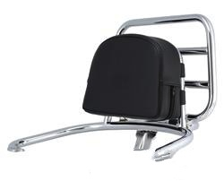 Accessories Back Rest, Black Pleather for rear rack