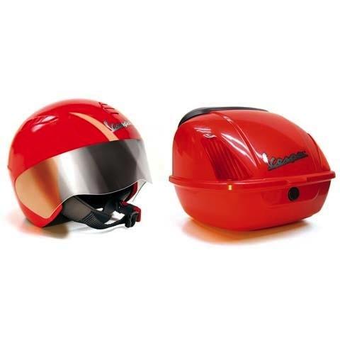 Lifestyle Peg Perego Helmet & Top Case Set for 12V Kids