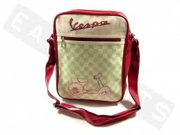 Lifestyle Shoulder Bag Red Cream & Lime Checkers Vespa