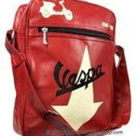 Lifestyle Vespa Shouder Bag Red With Cream Vespa GS Arrow