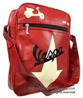 Lifestyle Vespa Shouder Bag Red With Cream Vespa GS Arrow