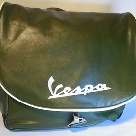 Lifestyle Vespa Logo Shoulder Bag Green