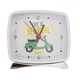 "Lifestyle Alarm Clock,  White Primavera ""Life is beautiful"""