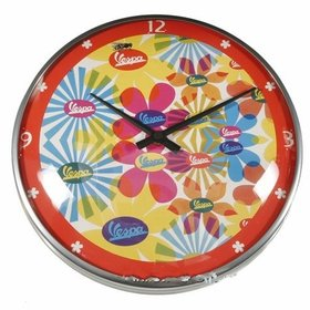 Lifestyle Wall Clock Vespa Flower 12.60""
