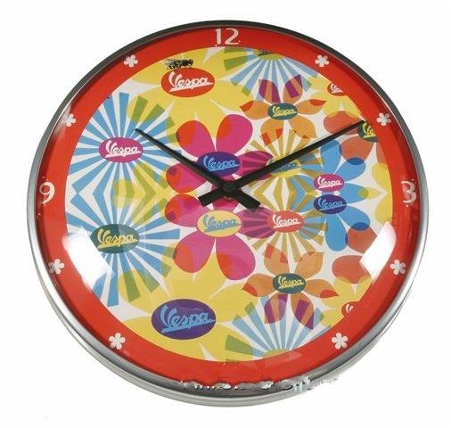 "Lifestyle Wall Clock Vespa Flower 12.60"""