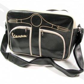 Lifestyle Shoulder Bag Black Vespa Front