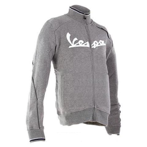 Apparel Vespa Zip Front Sweatshirt Grey Large