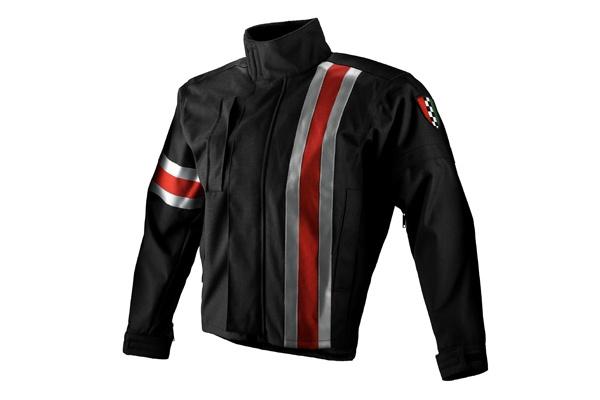 Apparel Jacket Men's Corazzo 5.0 Black (Red Stripe) Small