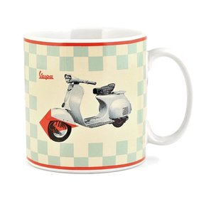 Lifestyle Coffee Mug Vespa Blue Checkerboard