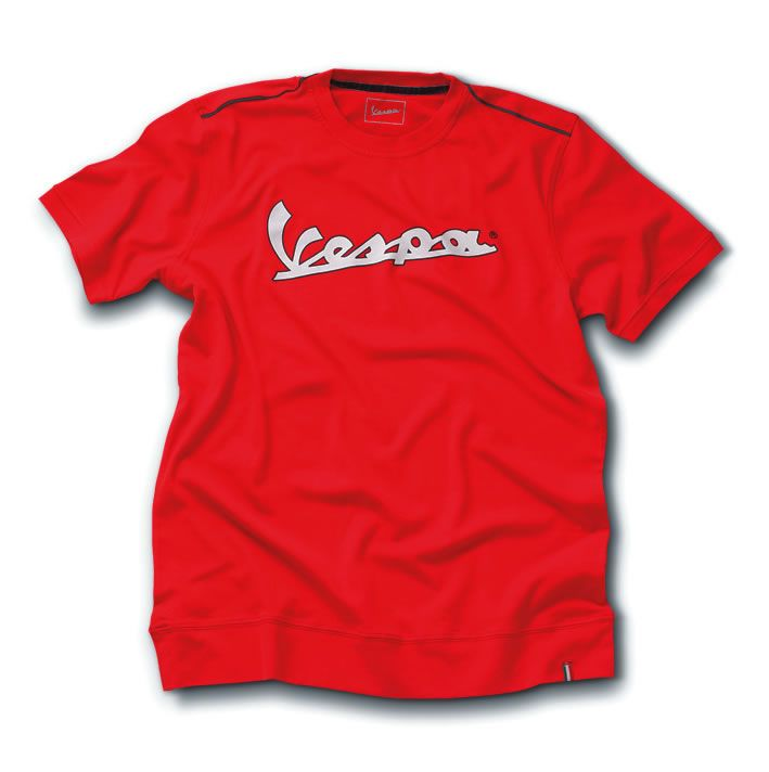 Apparel T-Shirt Men's Vespa 3M Strip Red Medium