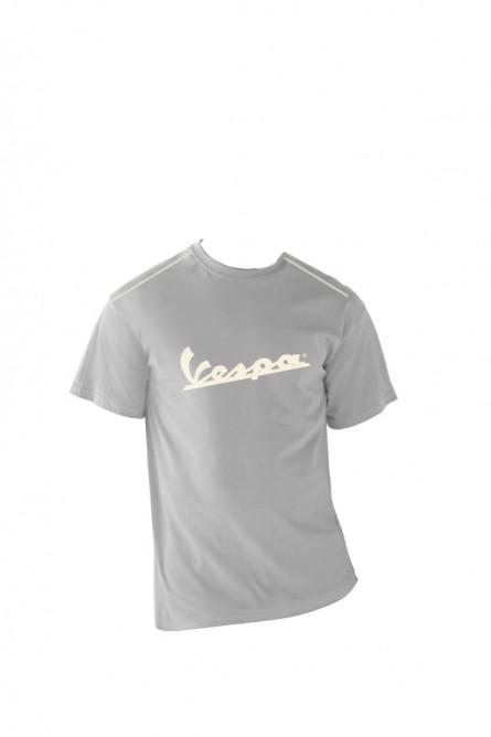 Apparel T-Shirt Men's Grey Vespa Patch X-Large
