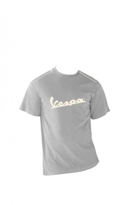 Apparel T-Shirt Men's Grey Vespa Patch Medium