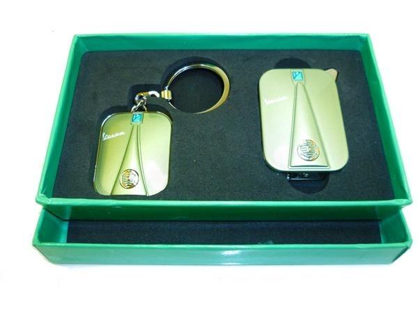 Lifestyle Vespa Legshield Keychain/Lighter Gift Set