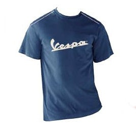 Apparel T-Shirt Men's Blue Vespa Patch X-Large