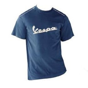 Apparel T-Shirt Men's Blue Vespa Patch Large
