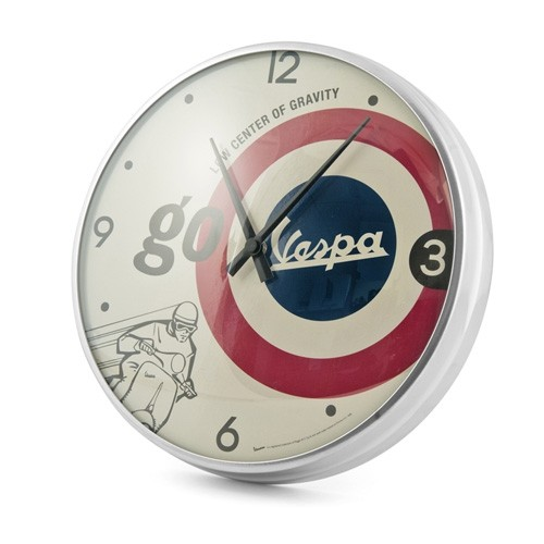 "Lifestyle Wall Clock ""Go Vespa"" 12.60"""