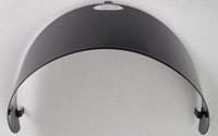 Accessories Headlamp Visor, Matt Black GT/GTS/GTV/LX Large