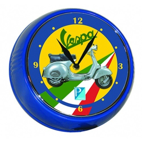 Lifestyle Wall Clock Vespa GS Tri-Colore 9""