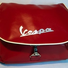 Lifestyle Vespa Logo Shoulder Bag Red