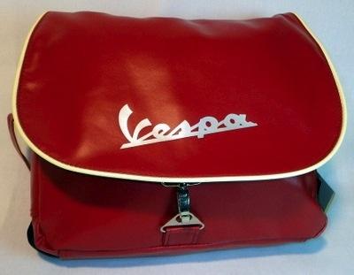 Lifestyle Vespa Logo Shoulder Bag Red