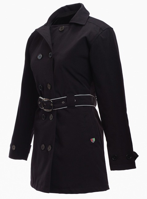 Apparel Jacket, Corazzo Women's Turiste Trenchcoat (Black or Stone)