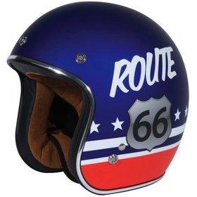 Apparel Helmet, TORC T-50 Route 66 Flat Blue