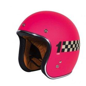 Apparel Helmet, TORC T50 Checkered Flat Pink