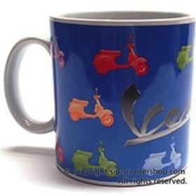 Lifestyle Coffee Mug, Colours Vespa on Blue