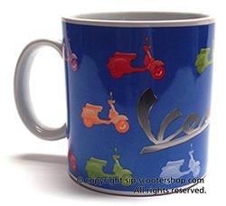 Lifestyle Coffee Mug, Colours Vespa on Blue
